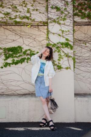 プチプラでキュート♡ミニスカートの甘めコーデ