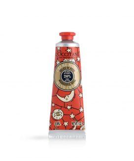 ■【クリスマスコフレ2018】ロクシタン/ジョイフルスター スノーシア ハンドクリーム(ローズ) (30ml/¥1,400)