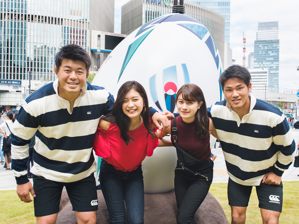 ラグビーワールドカップ2019™日本大会開催1年前イベント、ラグビー、ラグビーワールドカップ、楫真梨子、米山珠央