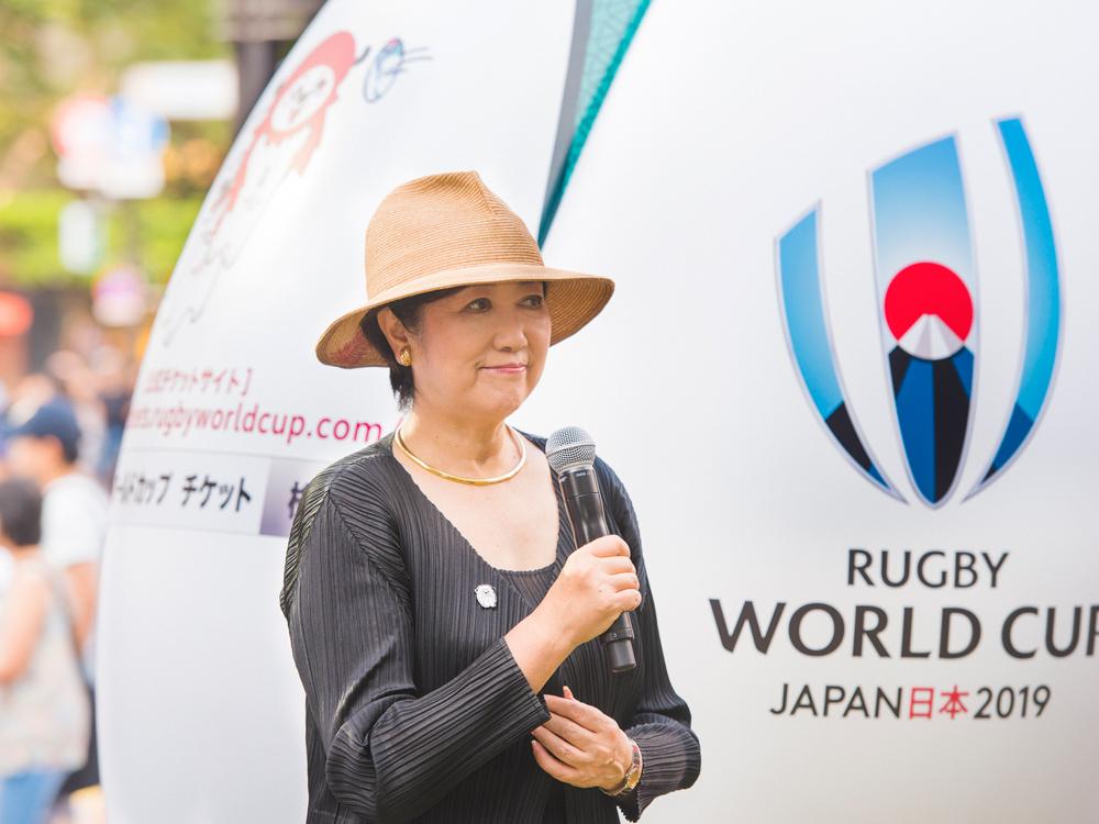 ラグビーワールドカップ2019™日本大会開催1年前イベント、ラグビー、ラグビーワールドカップ、小池百合子、都知事