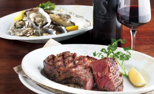 肉と牡蠣市場の肉