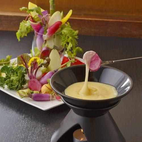 Organic Osteria Ginsai Plus、チーズフォンデュ