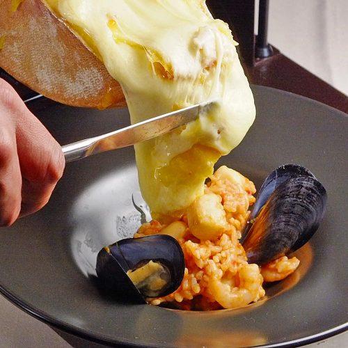 Organic Osteria Ginsai Plusのラクレットチーズ