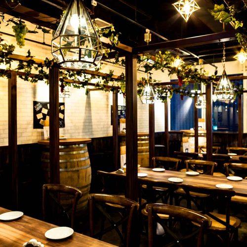肉×クラフトビール 有楽町SORAバルの店内