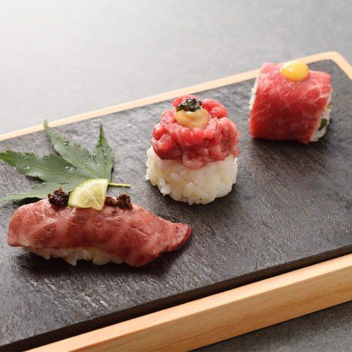 焼肉会食 舌牛 銀座店、肉寿司