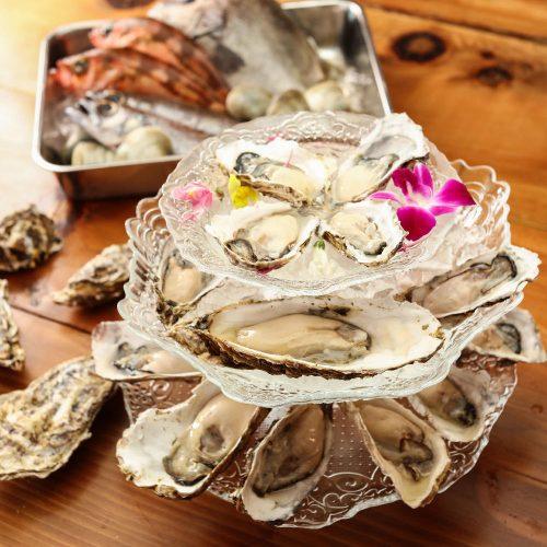 新宿 牡蠣スター、生牡蠣