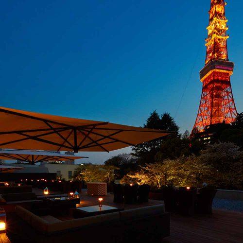カフェ&バー タワービューテラス/東京プリンスホテル、テラス