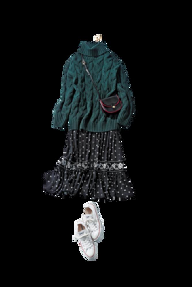 【明日なに着る?】大人の花柄ワンピは旬色モスグリーンを差し色に♡