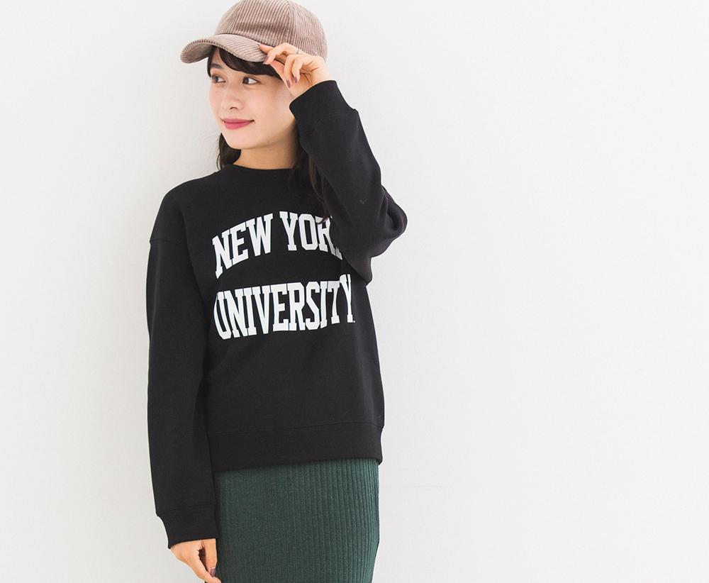 スウェットプルオーバー(カレッジ) ¥1,490+消費税