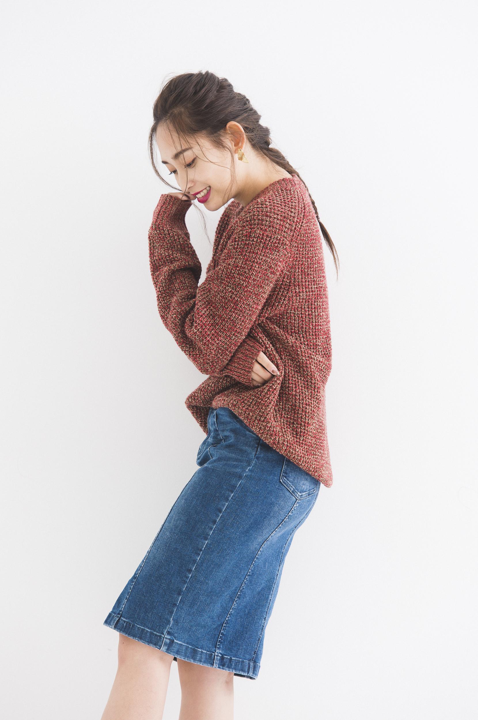 ユニクロ,ワッフルクルーネックセーター(メンズ)¥2,990+消費税,