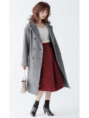 AKANE'S STYLE 上品きれい 茜AKANE'S COAT KEYWORD「洗練されたレディ感を楽しむ」大人になって気づく、飾りすぎない美しさ。わかりやすくかわいいものは卒業して、シックに着られる柄モノやミニマルなデザインのコートで、茜らしい上品さを手に入れよう。『GLEN CHECK COATSelect Pointジャケットの延長線上で着られる大きめの襟付きタイプモノトーンorブラウンベースなら合わせる色を選ばない体をすっぽり包むゆったりシルエットでこなれ感を高めて』