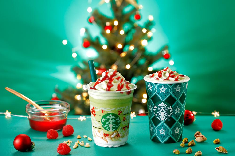 スターバックス,クリスマス,ピスタチオ クリスマス ツリー フラペチーノ®,ピスタチオ クリスマス ツリー