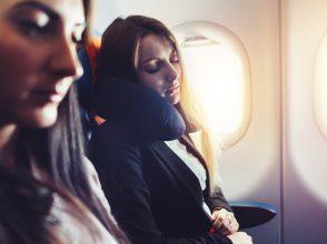 旅行、機内