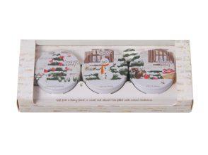 ■【クリスマスコフレ2018】ワンダーハニー/濃蜜マルシェのクリームバーム ギフトセット s(¥2,160)