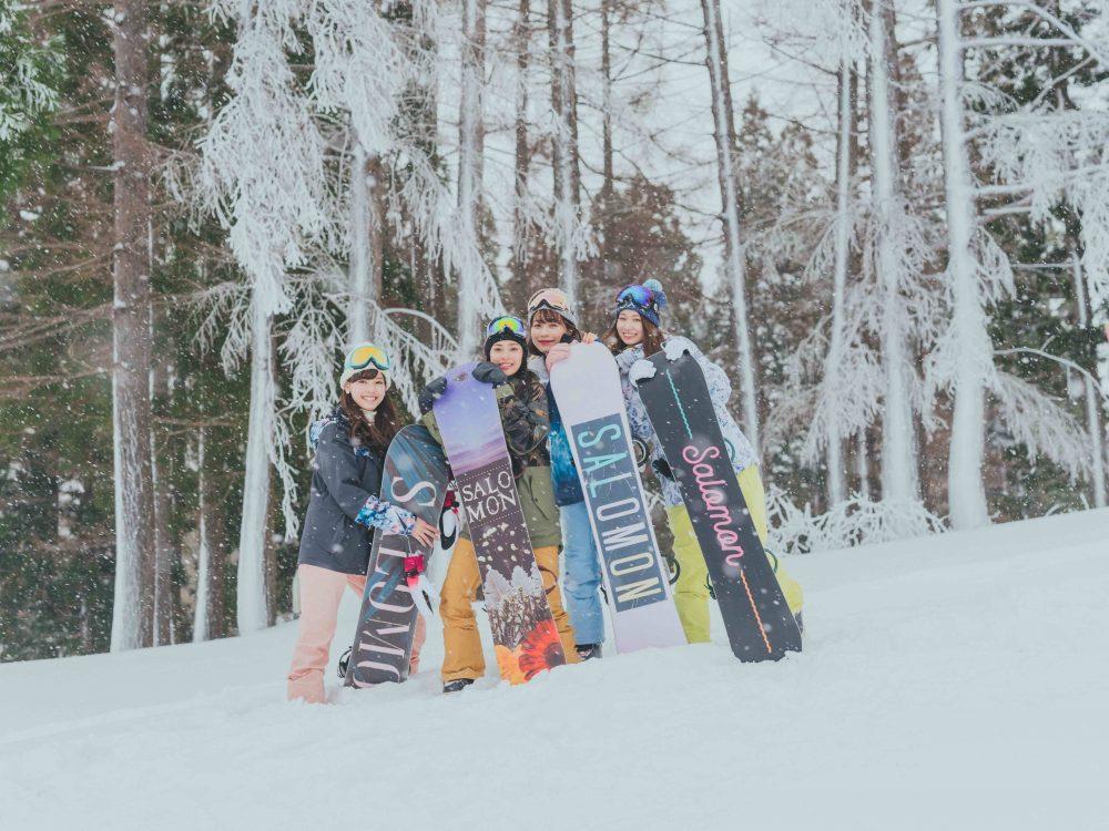 スノーボード、active snow girl、snow girl、榎彩聖、aby、楫真梨子、阿部広奈、雪