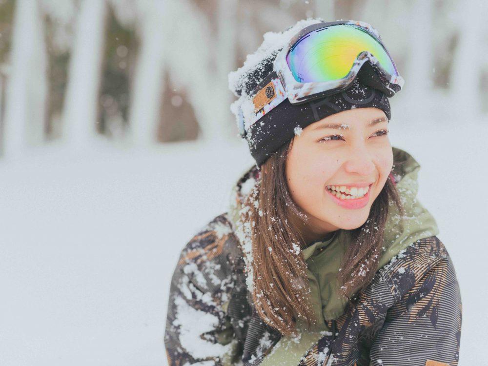 白石明美、アビー、雪。スノーボーダー