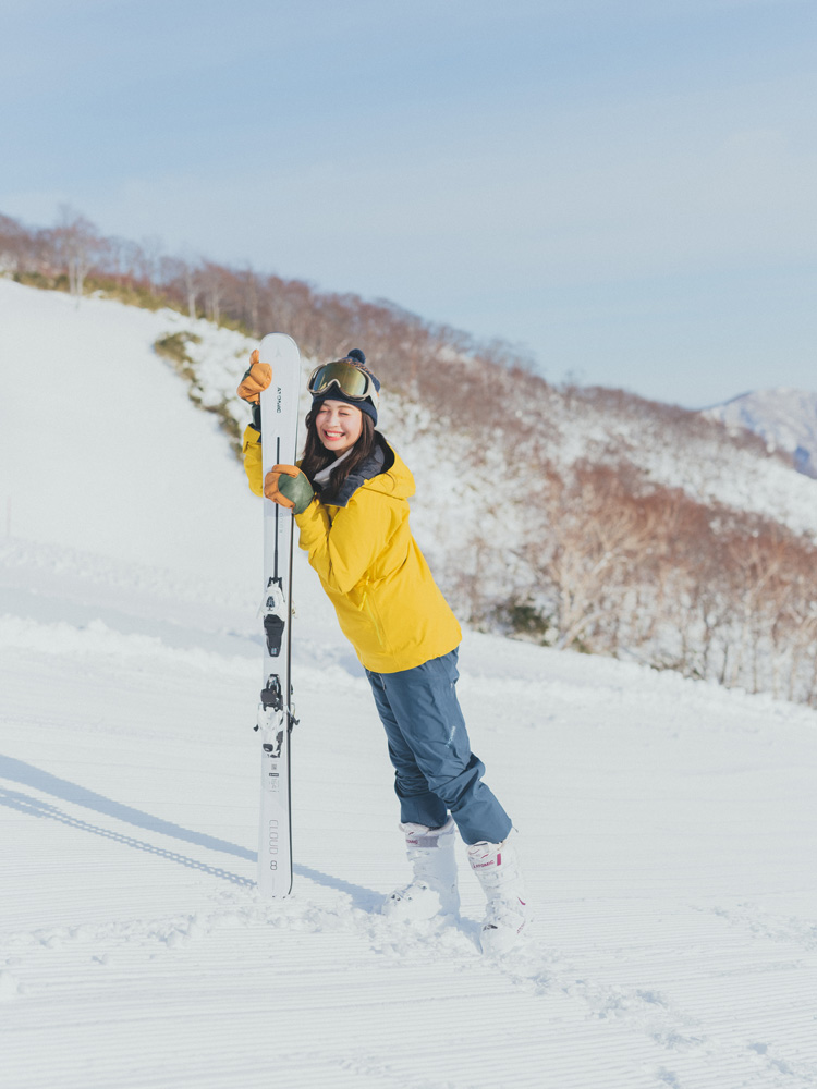 米山珠央、スキーSNAP、ビタミンカラー、スキーウエア