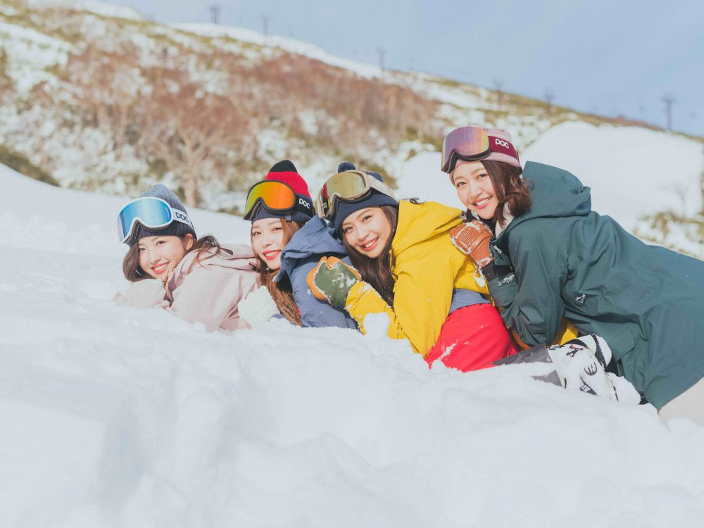 スキー、スノーボード、ゲレンデ、門脇伶奈、竹本萌瑛子、米山珠央、柳田菜月