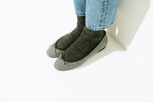 靴下、バレエシューズ、ヴィンテージ、防寒、足元