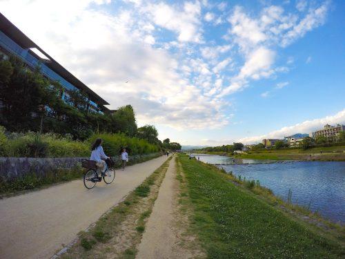 京都を自転車で