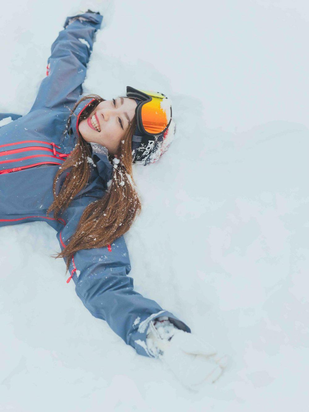 雪 ゲレンデ スキー場 スキー スノボ スノージェニック かわいい写真 インスタ映え カメラ CanCam it girl