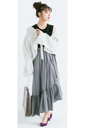TREND PICKS #004 ひとくせデザインがおしゃれゴコロをくすぐるプレイフルスカート『かわいいだけじゃない、ちょっとした遊びゴコロのあるスカートが続々。サイドプリーツだったり、アシメトリーだったり、部分シースルーだったり…。手持ちのトップスと合わせるだけで一気に最旬コーデが完成するスカートを、まずは1枚手に入れて!』