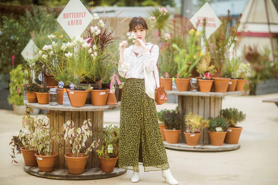花柄,スカート,2019,春