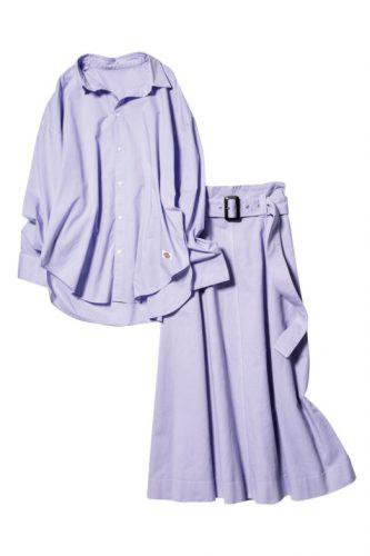 FRAY I.D×Dickiesのワンピ見えシャツ&スカート