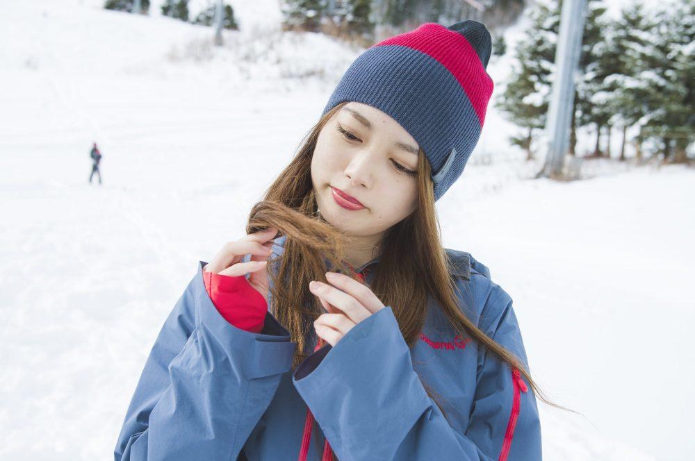 髪の毛 ヘアケア UV 雪 ニット帽子 スキー スノボ CanCam it girl