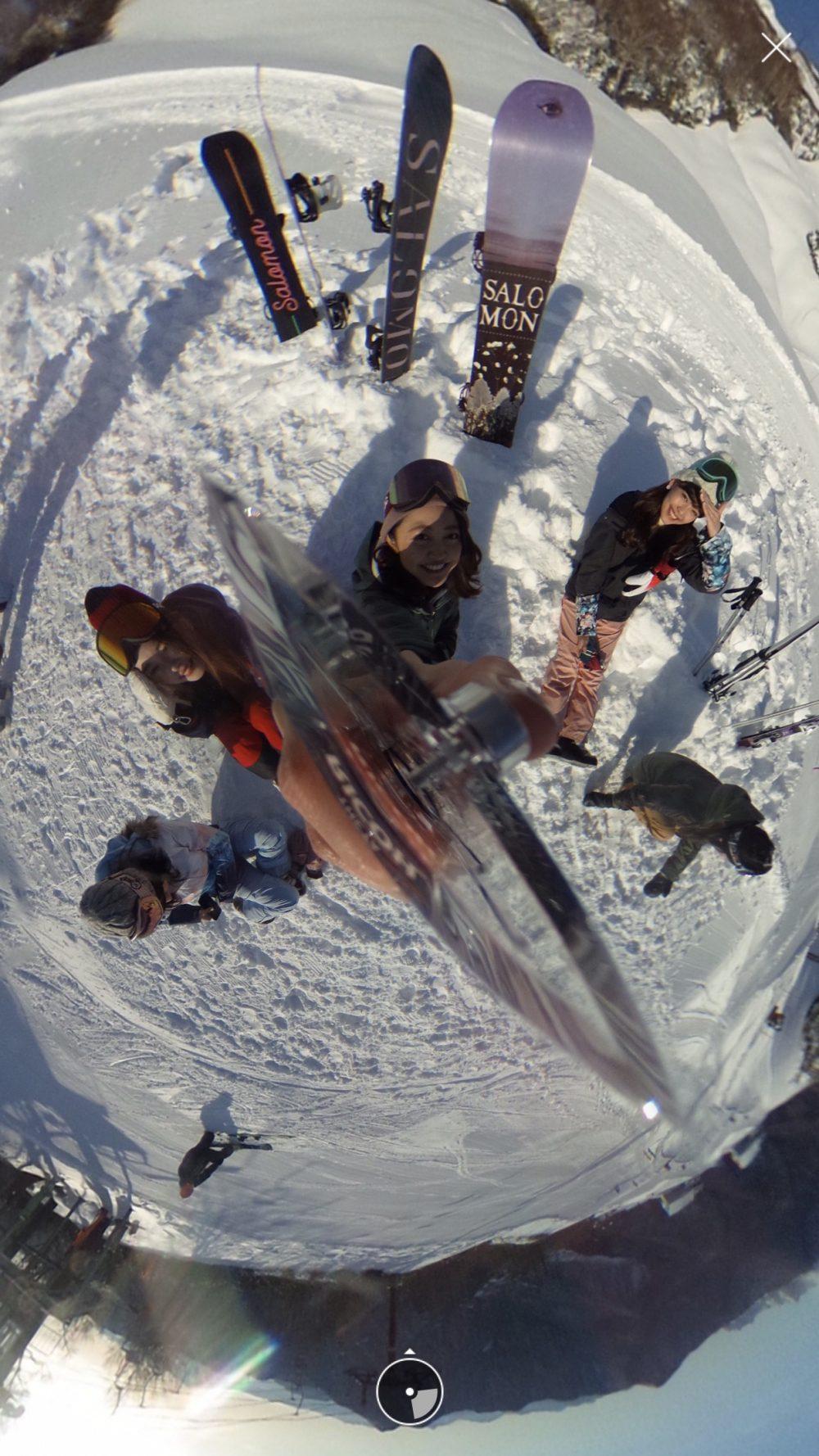 カメラ カメラ女子 シータ THETA 防水 スキー スノボ