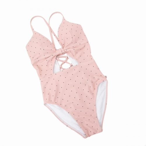 キャセリーニの水着、ピンク