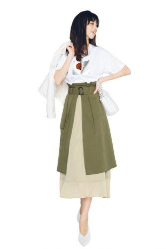 ロングスカート、トレンチスカート、あやみ