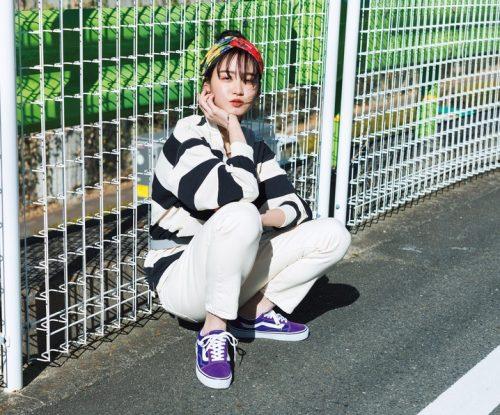 スニーカー、2019春夏トレンド、永井莉音