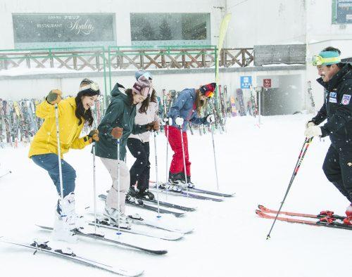 スキー スノボ CanCam 皆川賢太郎 雪 ゲレンデ 春スキー ウィンタースポーツ
