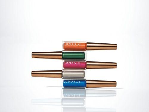 ルナソル メタリックライナー 限定5色 各2,800円(税抜) 左から、EX03、EX04、EX05、EX06、EX07