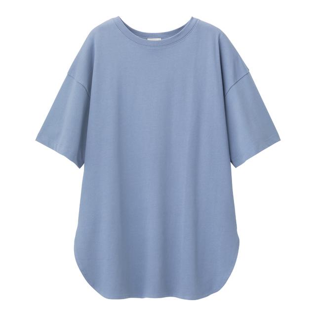 ヘビーウェイトオーバーサイズT(5分袖) GU ジーユー おすすめ Tシャツ CanCam