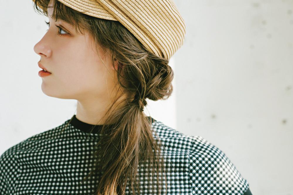 ■帽子で可愛くカバーするのも◎