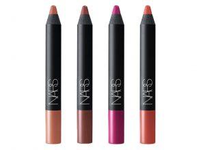 NARS ベルベットマットリップペンシル 新4色 各3,300円(税抜) 左から、2485、2496、2497、2498