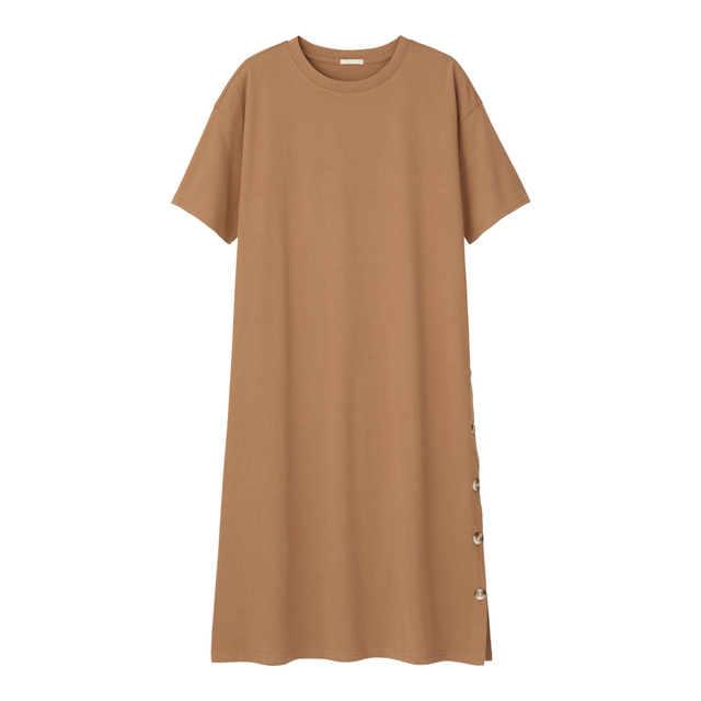 GU ジーユー 人気ランキング おすすめ Tシャツワンピ ボタンTワンピース