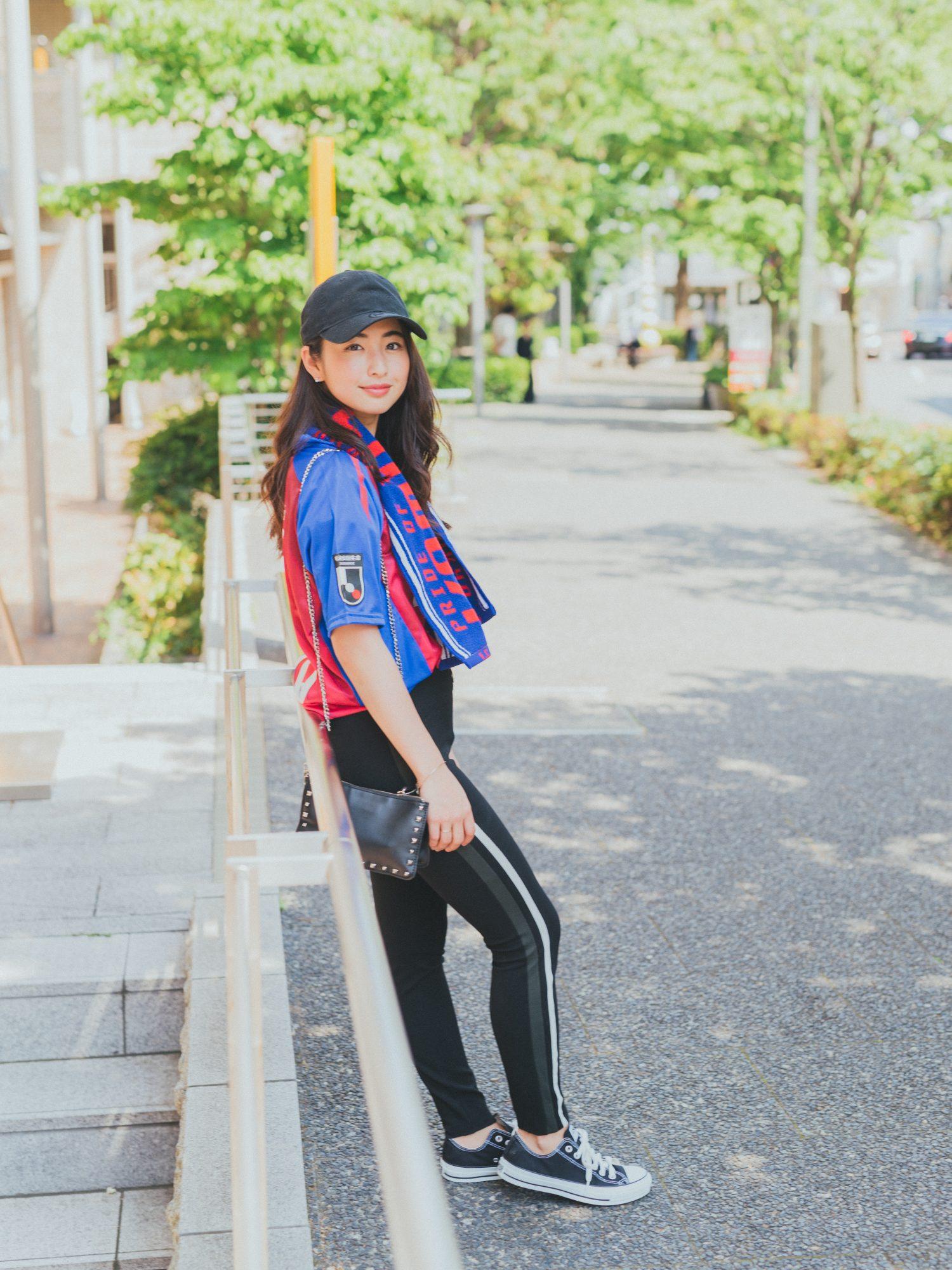 サッカー Jリーグ CanCam サッカー観戦 金J ユニフォーム 観戦コーデ CanCam it girl FC東京