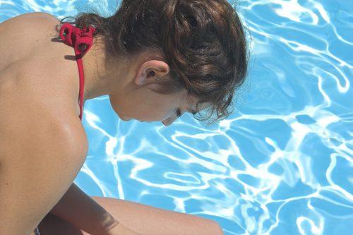 プールで失敗