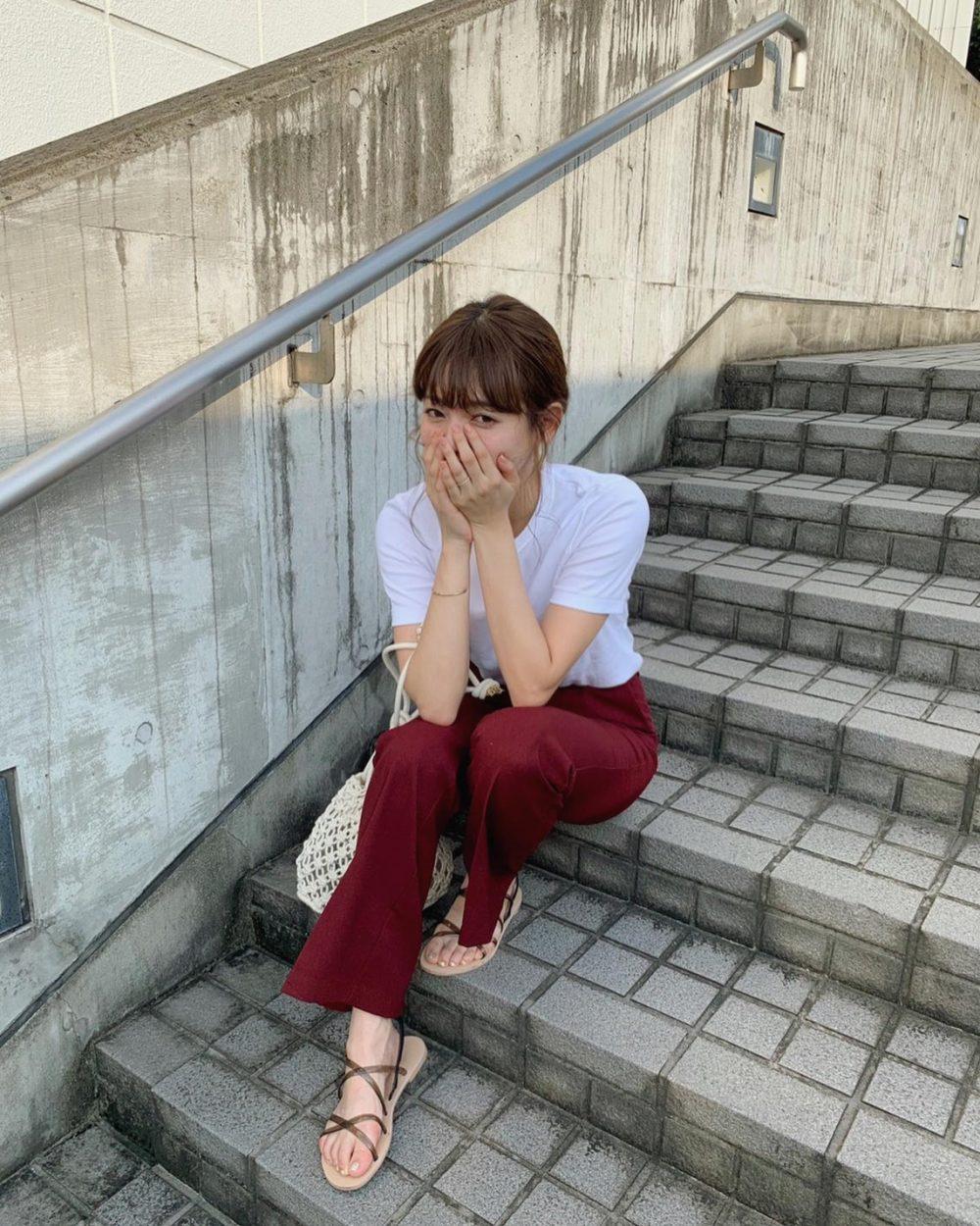 GU ジーユー セミフレアパンツ 新作 コーデ CanCam it girl 前坂美結