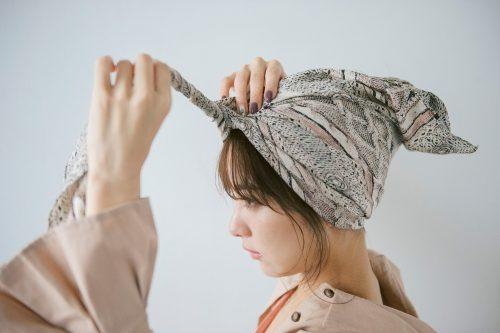 ■ターバンを使った簡単まとめ髪の作り方♡