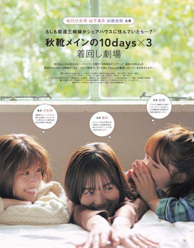 CanCam2019年11月号坂道三姉妹シェアハウス