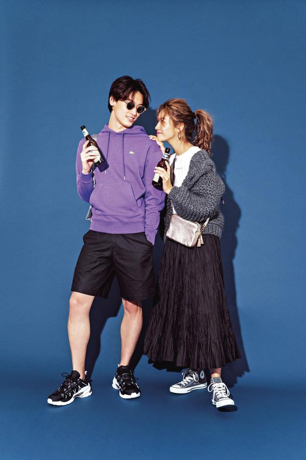 07 おしゃれ男子別 デートに「スニーカー」の王道コーデ『エナジー系男子とデートするなら、思い切りスポーティにスニーカーを履く!』