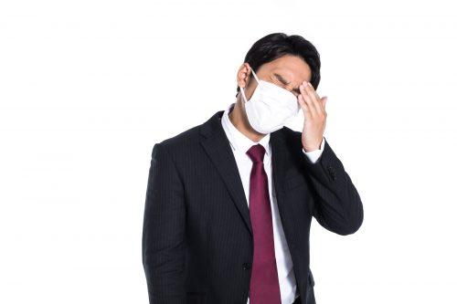 風邪をひいている人