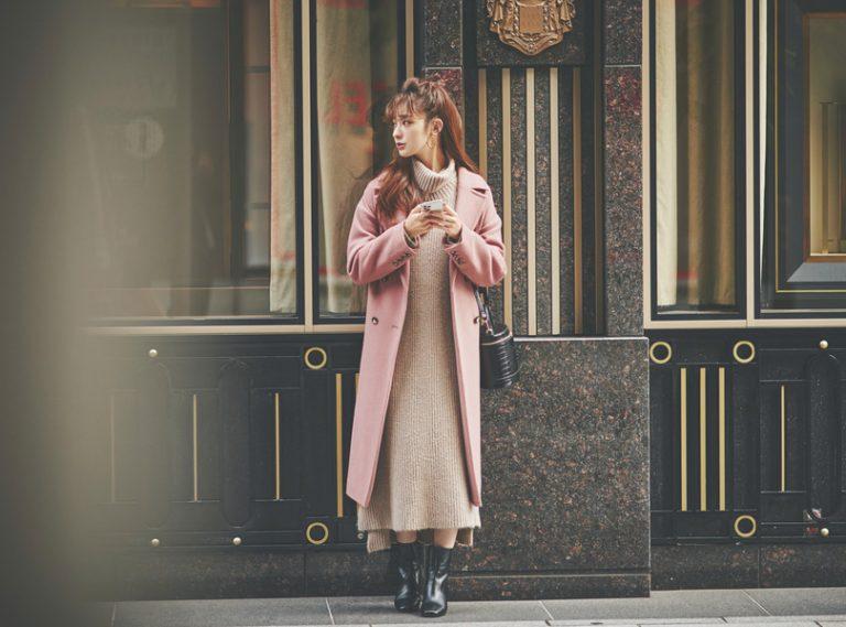 くすみピンク×ベージュの淡いトーンが今っぽかわいい♡