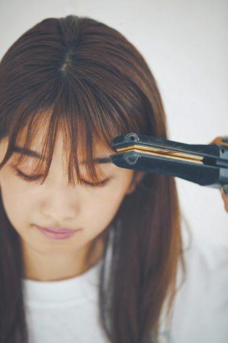 ■クールにもフェミニンにも♡外ハネ前髪