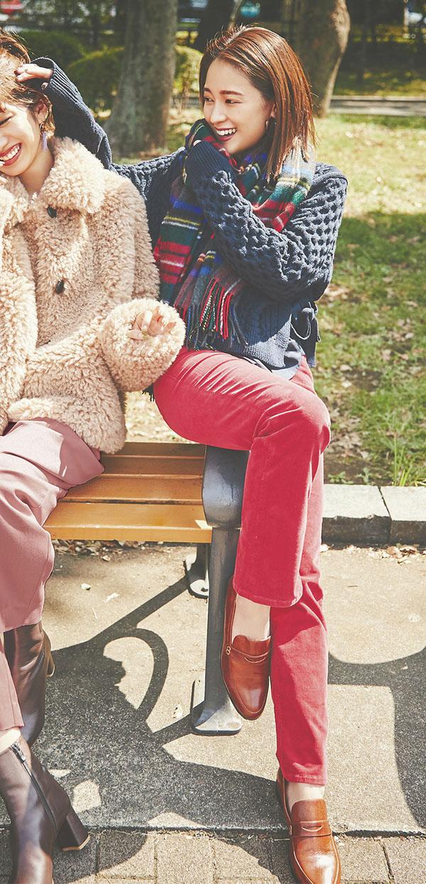 女のコらしくしたい気分の日はベリー系パンツ『ほんのりトラッド』