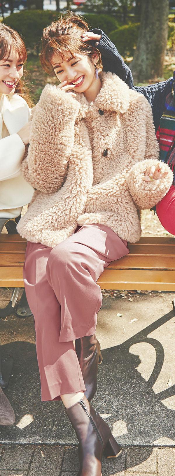 女のコらしくしたい気分の日はベリー系パンツ『個性派カジュアル』